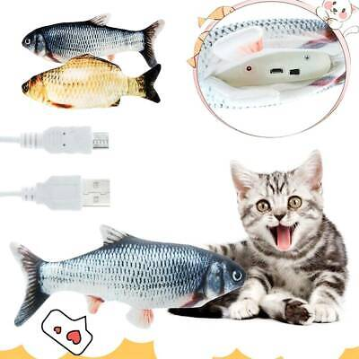 Rechargeable 30CM Cat Nip Fish Toy USB Electric Interactive  Realistic Wagging