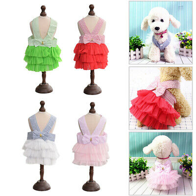 Pet Dog Ballet Skirt Clothes Puppy Cat TUTU Dress Chihuahua Dog Apparel Coat UK