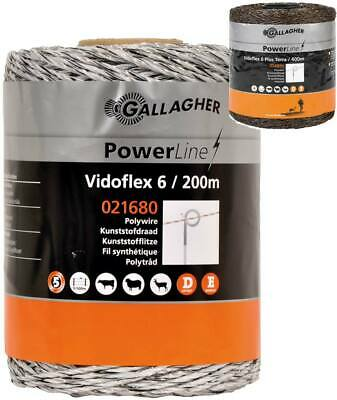 Filo Vidoflex Power line professionale Gallagher 2,5 mm con 6 conduttori inox Ga