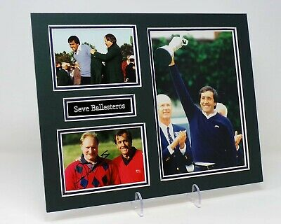Severiano Seve BALLESTEROS Signed Mounted Photo Display AFTAL Open Golf Legend
