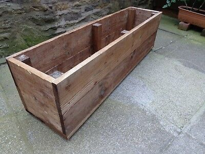 SUPER JUMBO EXTRA LARGE 4 FT LONG 14 inch high WOODEN GARDEN PLANTER TROUGH TUB