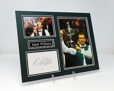 Mark WILLIAMS Signed Mounted Photo Display AFTAL 3 Time World Snooker Champion