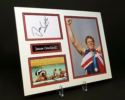 James CRACKNELL Signed Mounted Photo Display AFTAL Olympic Gold Medalist Rower