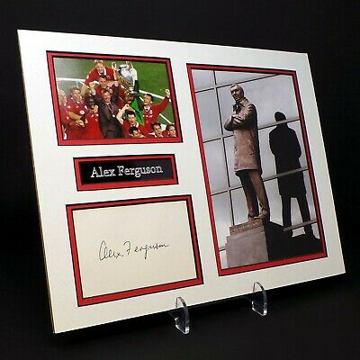 Alex FERGUSON Signed Mounted Photo Display AFTAL Ex Manchester Utd Manager