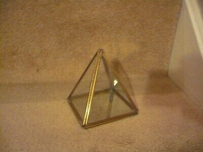A Vintage Brass And Glass Pyramid Display Case An Outstanding Piece