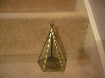 A Vintage Rare Brass And Glass Wigwam Display Case An Outstanding Piece