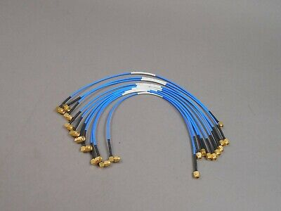 """Lot of 10 HUBER+SUHNER 23030078 Multiflex 86 SMA Cable Assembly 15"""""""