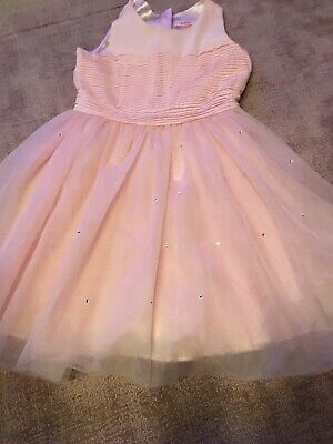 Ted Baker Girls Pink Sleeveless Dress 9-10 Years Good Condition