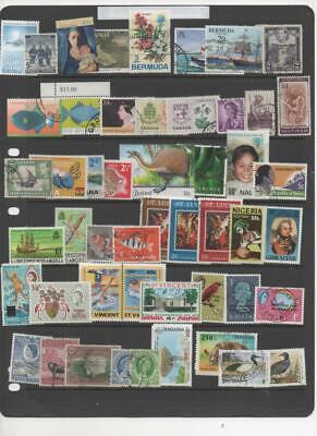 British Commonwealth stamp collection of 50 stamps all different (B.C.2)