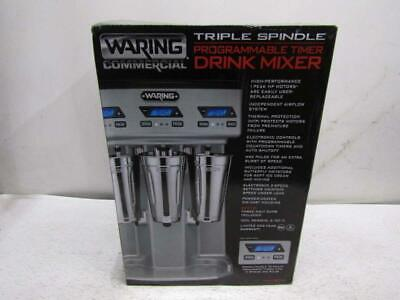 Waring Commercial Triple SpindleProgrammable Timer Drink Mixer, WDM360TX
