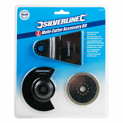 Silverline Oscillating Multi-Tool Cutting Set Diamond Saw Blade Grout Remover
