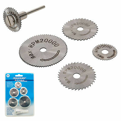 Silverline HSS Saw Disc Set For GMC/Dremel Rotary Tools Cuts Copper Wood Plastic