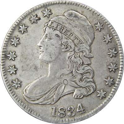 1834 50c Capped Bust Silver Half Dollar Coin XF EF Extremely Fine