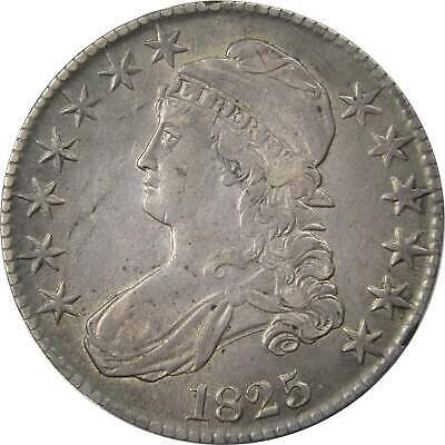 1825 50c Capped Bust Silver Half Dollar Coin XF EF Extremely Fine