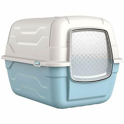Cat Centre Cat Blue Hooded Litter Tray Box Large Enclosed Loo Indoor Puppy Kitty