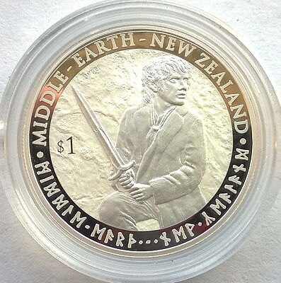 New Zealand 2012 King Ring Middle Earth Dollar 1oz Silver Coins,Proof-A
