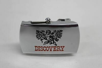 ZIPPO Belt Buckle Solid Brass Polished Chrome Discovery Cupid Design Vintage