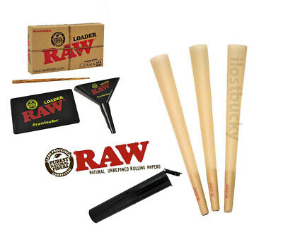 Raw classic lean size pre-rolled cone (50 pack) WITH RAW Lean Loader + Free Tube