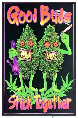 Good Buds Weed Black Light Poster