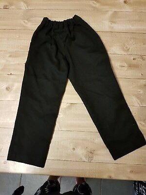 Boys black pull on school trousers age 5 yrs by matalan
