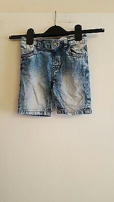Boys blue denim shorts by urban rascals age 3 yrs