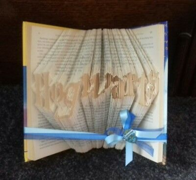 book fold Hogwarts harry potter fans Ravenclaw gift 4 the fan with it all.