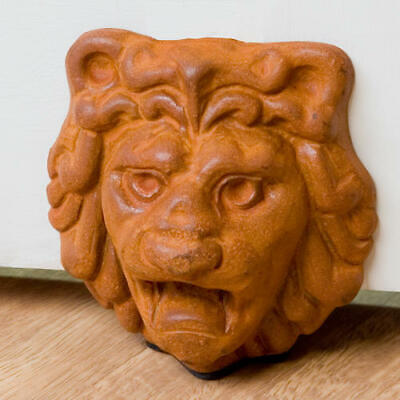 Signature Hardware Cast Iron Lion Head Wedge Doorstop
