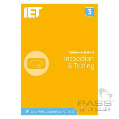 IET Guidance Note 3: Inspection and Testing 8th Edition *NEW 2018* / BS 7671