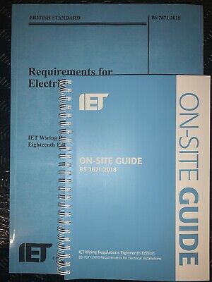 Authentic IET Wiring Regulations BS 7671 & OSG 2018 18th Edition & On Site Guide