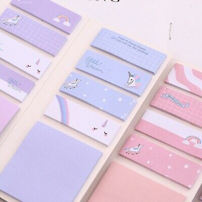 Cute Unicorn N Times Memo Pad Sticky Notes Cartoon Stationery Label Kh*er