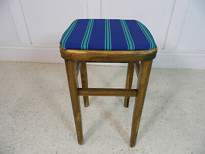 Vintage Retro Kitchen beech wood restored Formica table stool new seats 50s 60s