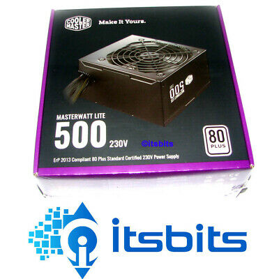 COOLERMASTER MASTERWATT LITE 500 80+ ATX POWER SUPPLY 500W 2x 6/8 PCIe 6x SATA