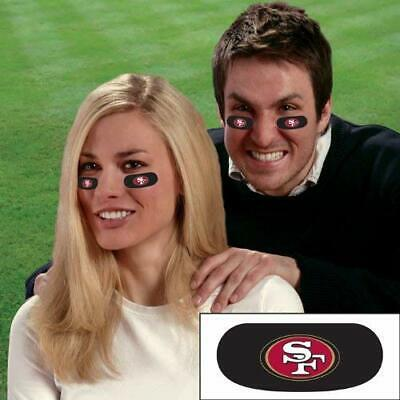 San Francisco 49ers Football NFL Eye Black Strips Tailgate Face Stickers 3 Pair