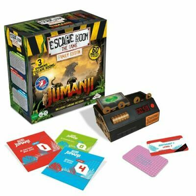 JUMANJI - Escape Room - The Game Sealed Board Game 3-5 Player Game BRAND NEW