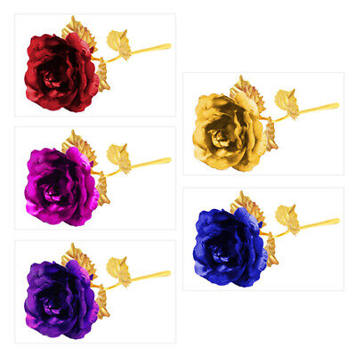 24K Gold Plated Rose Anniversary Valentine's DayGirlfriends Mothers Day Gift