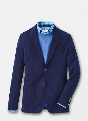 NEW MENS PETER MILLAR Crown Wool Blazer Coat Jacket, MEDIUM REG, NAVY BLUE