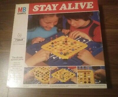 STAY ALIVE Vintage 1976 Board Game MB Games Complete + Rules UNUSED  CONDITION