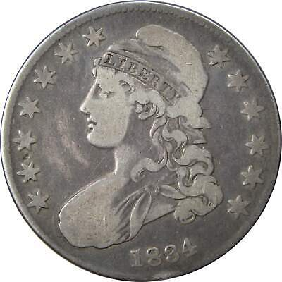 1834 50c Capped Bust Silver Half Dollar Coin VG Very Good