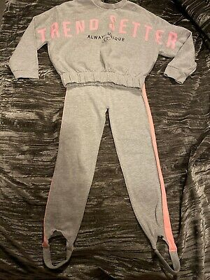 Lovely Girls Grey Tracksuit River Island Age 5-6