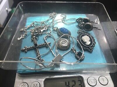 Vintage Sterling Silver Lot Mixed Jewelry Scrap or Wear 42.3 Grams