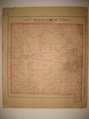 Antique Warren Township Township Trumbull County Ohio Map Horse Carriage Print