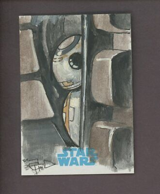 Star Wars JTTFA Journey to the Force Awakens Sketch Card BB-8 TOM CARLTON 1/1