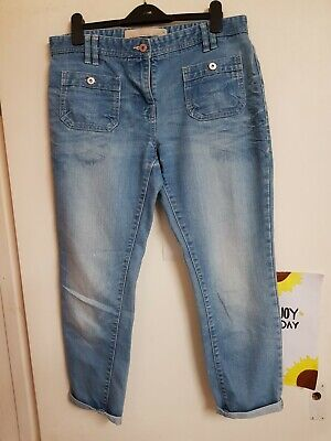 Lovely blue cropped jeans Size 10 by NEXT