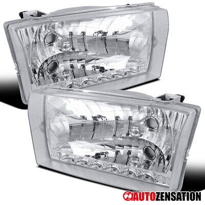 For 1999-2004 F250/350/450/550 2000-2004 Excursion Clear SMD LED DRL Headlights