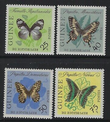 Guinea 1963 Butterfly set Sc# 291-304 NH