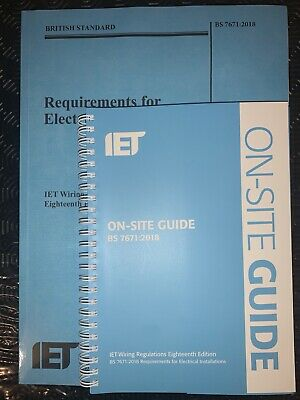 IET 18th Edition On Site Guide & Wiring Regulations BS 7671 New