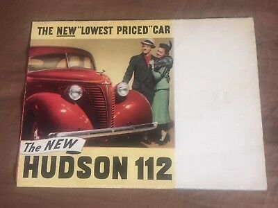 1938 Hudson Terraplane 112 Large Color Brochure Prospekt