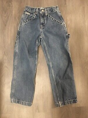 Boys Calvin Klein Vintage Carpenter Cotton Jean Size 7 Very good Dark Stone Wash