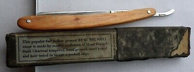 Antique Bowdins wedge hand forged straight razor,