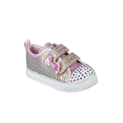 Kids Girls Infants Skechers Shuffle Lite Mini Mermaid Twinkle Toes Shoes UK 1-11